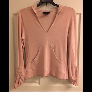 Express Pink Thermal Hooded Top, Sz M